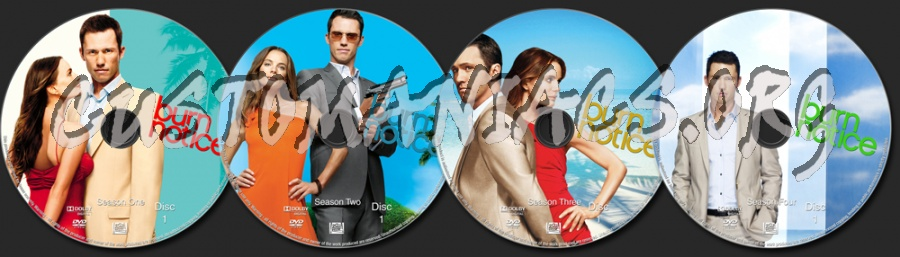Burn Notice Seasons 1-4 dvd label
