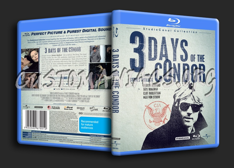 3 Days of the Condor blu-ray cover