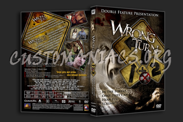 Wrong Turn 1 & 2 Combo dvd cover