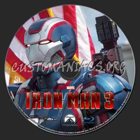 Iron Man 3 blu-ray label