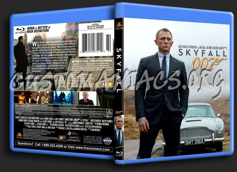 James Bond: Skyfall blu-ray cover