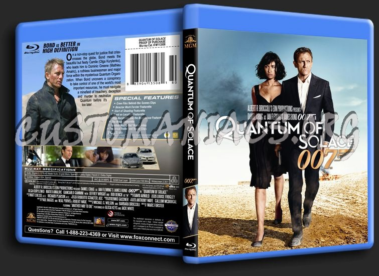 James Bond: Quantum of Solace blu-ray cover