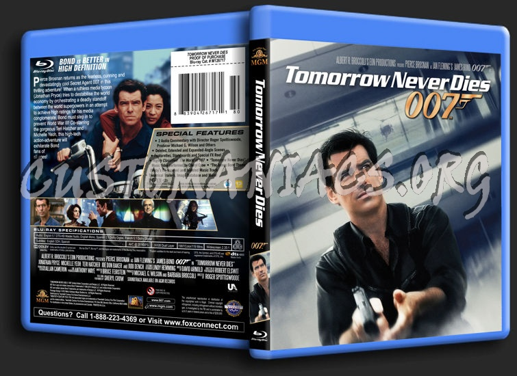 James Bond: Tomorrow Never Dies blu-ray cover