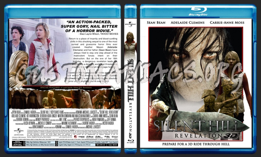 Silent Hill Revelation 3d Blu Ray Cover Dvd Covers Labels By Customaniacs Id 190155 Free Download Highres Blu Ray Cover
