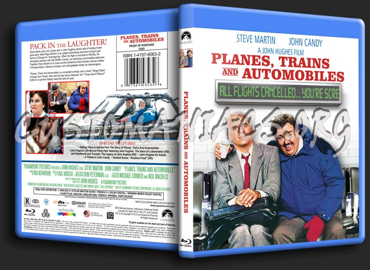 Planes, Trains and Automobiles blu-ray cover