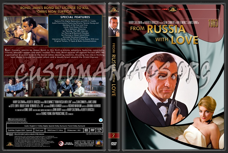 James Bond (007) Collection From Russia With Love (2) dvd cover