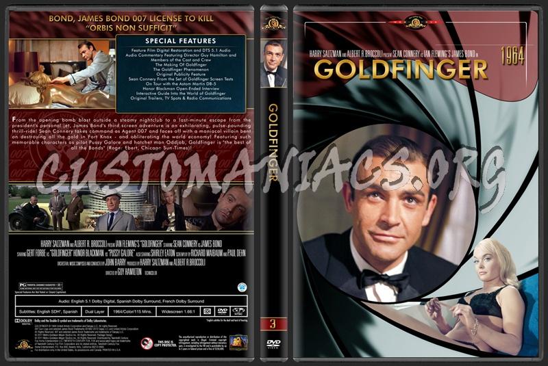 James Bond (007) Collection Goldfinger (3) dvd cover