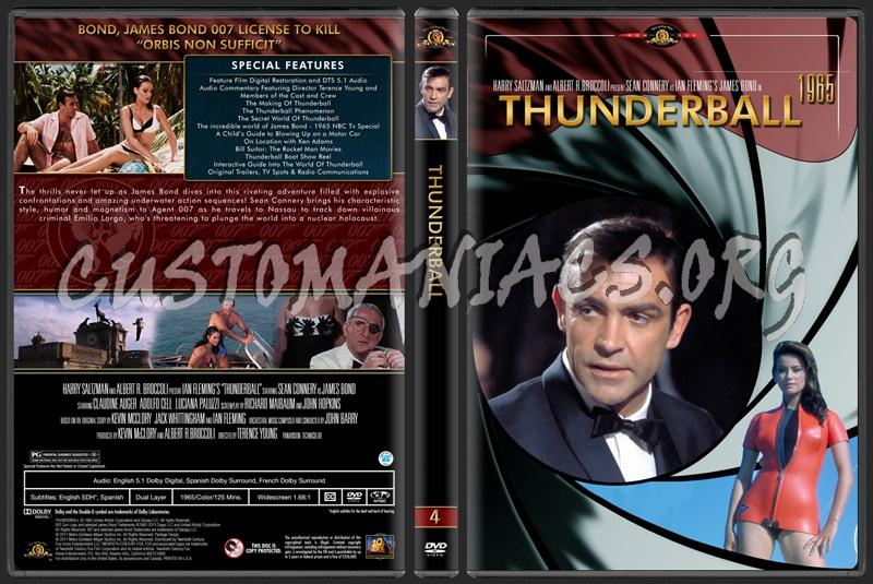 James Bond (007) Collection Thunderball (4) dvd cover