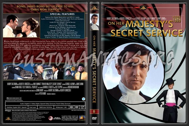 James Bond (007) Collection On Her Majesty's Secret Service (6) dvd cover