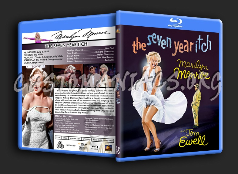 The Seven Year Itch blu-ray cover