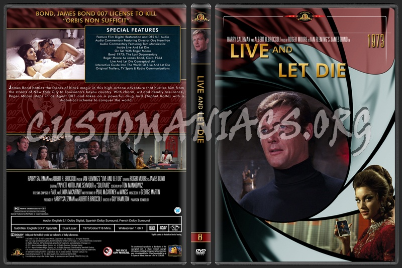 James Bond (007) Collection Live And Let Die (8) dvd cover