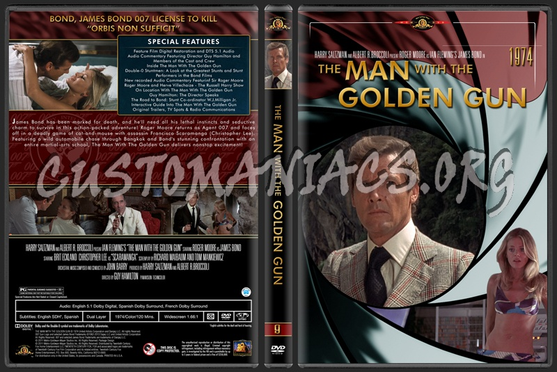 James Bond (007) Collection The Man With The Golden Gun (9) dvd cover