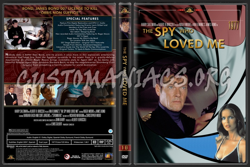 James Bond (007) Collection The Spy Who Loved Me (10) dvd cover