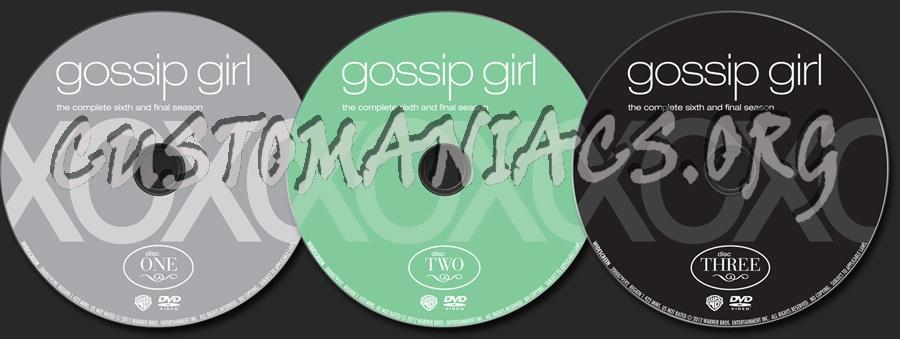Gossip Girl Season 6 dvd label
