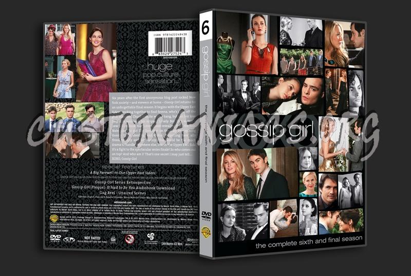 Gossip Girl Season 6 dvd cover