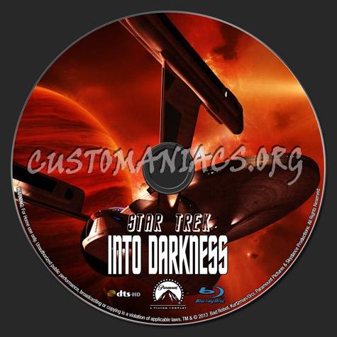 Star Trek Into Darkness blu-ray label