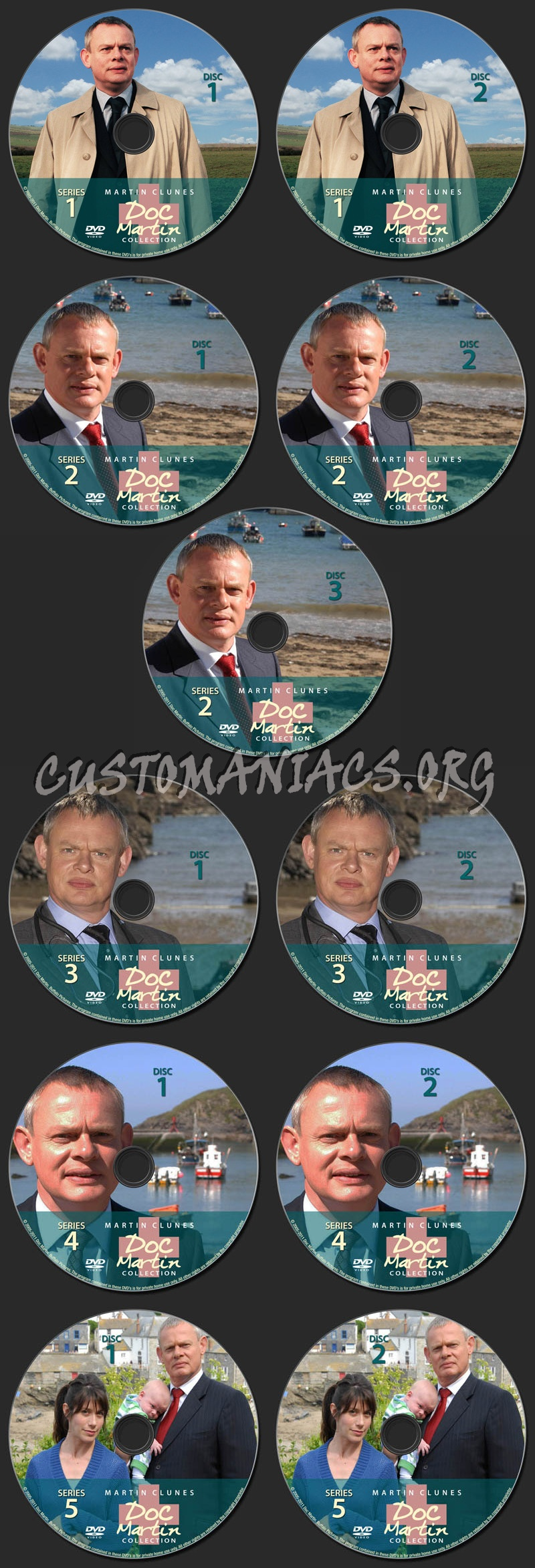 Doc Martin Collection dvd label
