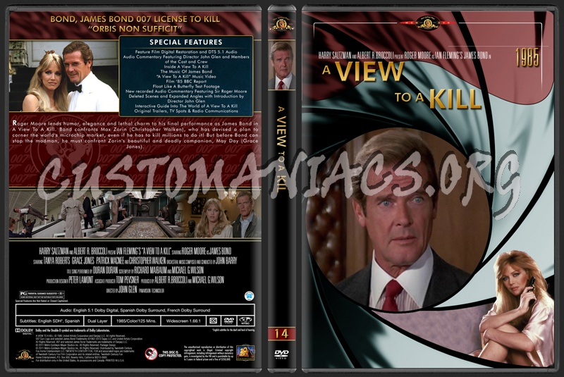 James Bond (007) Collection A View To A Kill (14) dvd cover