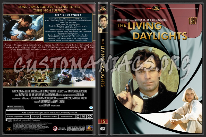 James Bond (007) Collection The Living Daylights (15) dvd cover