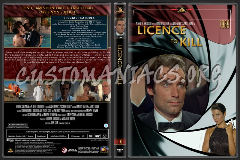 James Bond (007) Collection Licence To Kill (16) dvd cover