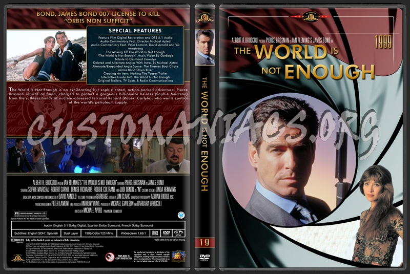 James Bond (007) Collection The World Is Not Enough (19) dvd cover