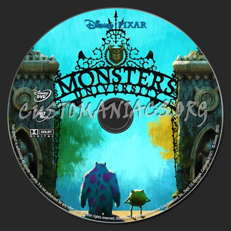 Monsters University (2013) dvd label - DVD Covers & Labels ...