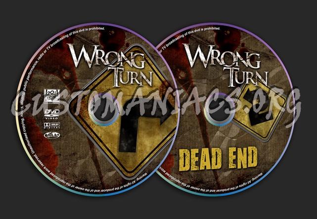 Wrong Turn 1 & 2 dvd label