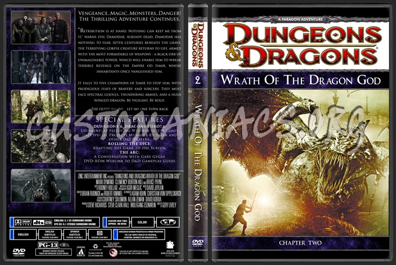 Dungeons And Dragons Wrath Of The Dragon God dvd cover