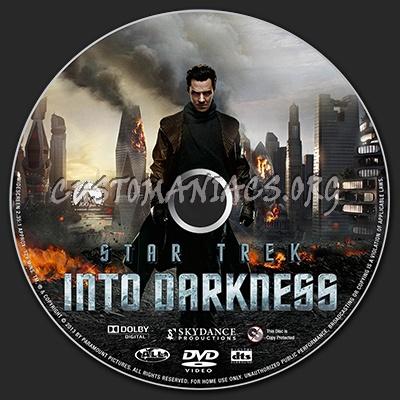 Star Trek Into Darkness dvd label