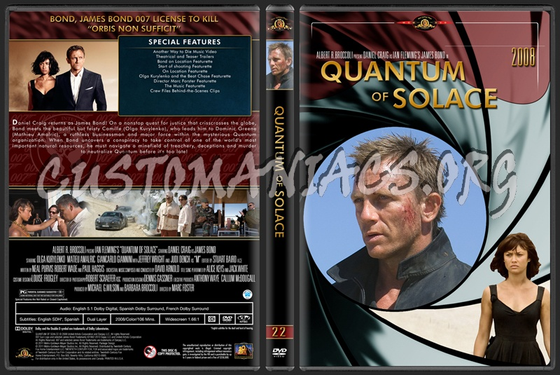 James Bond (007) Collection Quantum Of Solace (22) dvd cover