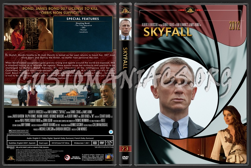 James Bond  007 ...007 Skyfall Dvd Cover