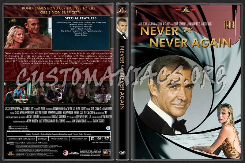 James Bond (007) Never Say Never Again dvd cover
