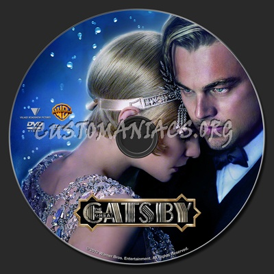 The Great Gatsby (2013) dvd label