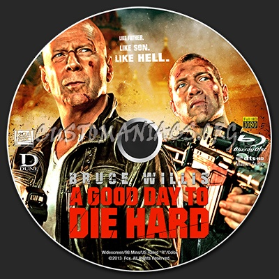 Label a good day to die hard 2013 custom label