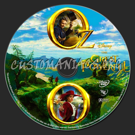 Oz the Great and Powerful dvd label