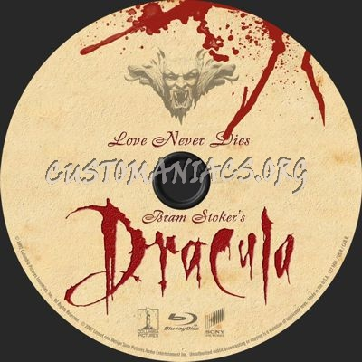 Bram Stoker's Dracula blu-ray label