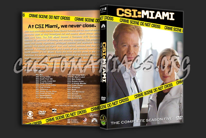 CSI: Miami - Seasons 1-10 dvd cover