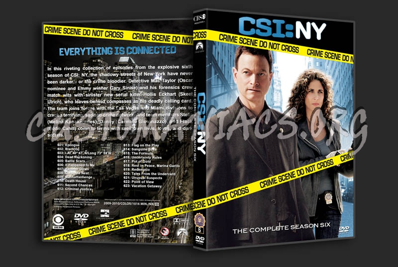 CSI: NY - Seasons 1-8 dvd cover