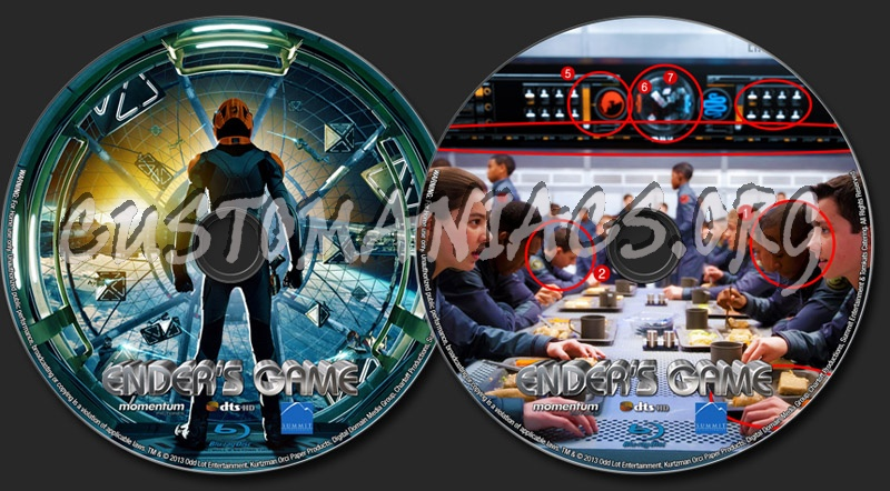 Ender's Game blu-ray label