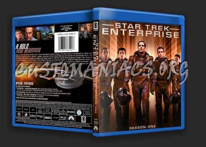 Star Trek Enterprise Season 1 blu-ray cover