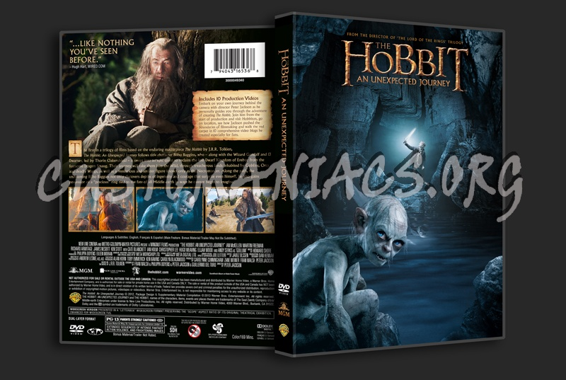 The Hobbit An Unexpected Journey dvd cover
