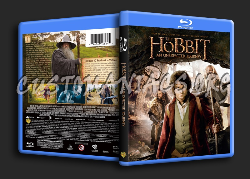 The Hobbit An Unexpected Journey blu-ray cover