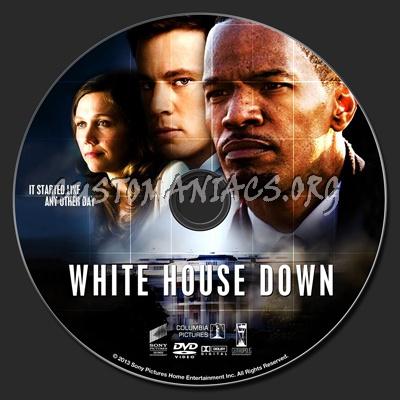 White House Down dvd label