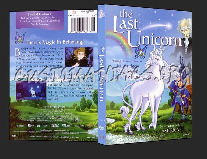 The Last Unicorn dvd cover