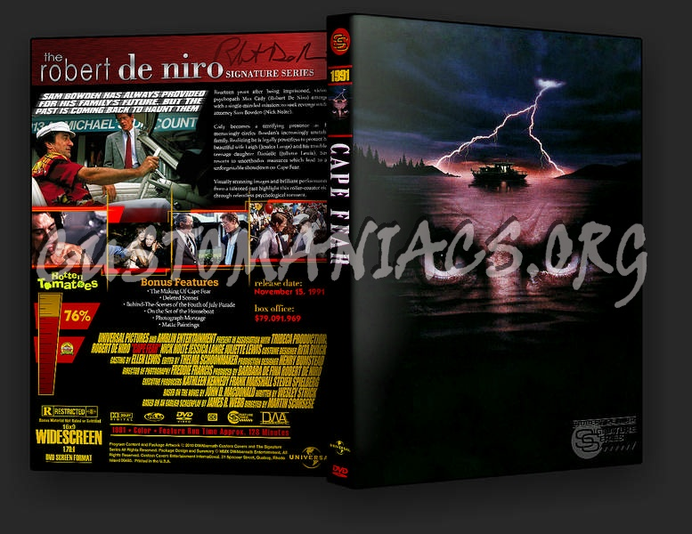 The Signature Series - Robert De Niro dvd cover