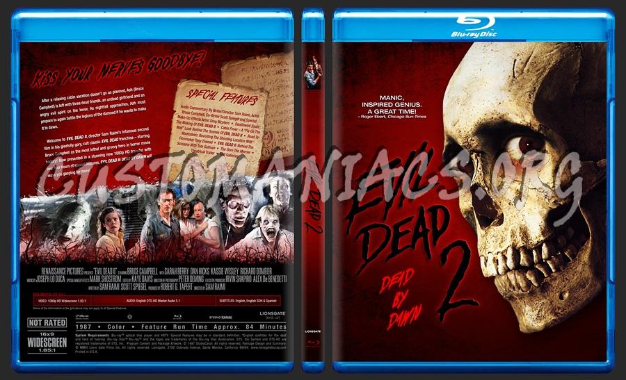 Evil Dead 2 - Dead By Dawn blu-ray cover