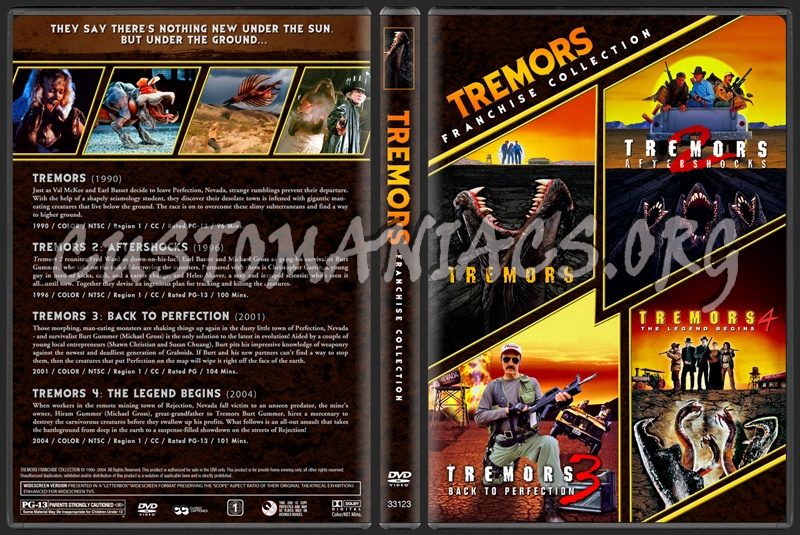 Tremors - Franchise Collection dvd cover