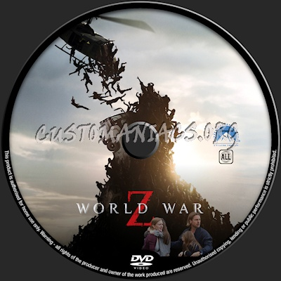 Dvd World War z World War z Dvd Label