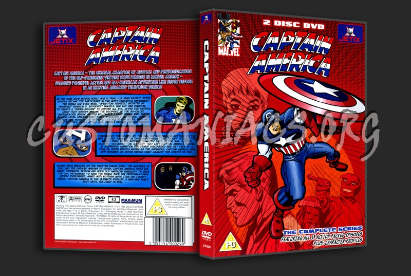 Captain America The Complete Series dvd cover