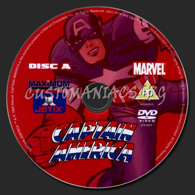 Captain America The Complete Series dvd label
